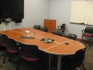 2228 conference table with screen at front