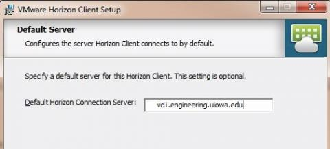 Install and name the default View Connection Server